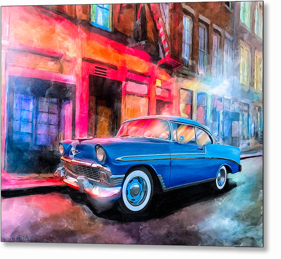 1956 Chevy Bel Air - Classic Car Metal Print