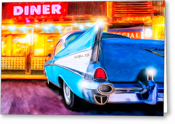 1957 Chevy Tail Fin - Classic Car Greeting Card