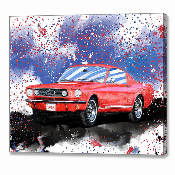 1965 Mustang Fastback - Classic Car Canvas Print