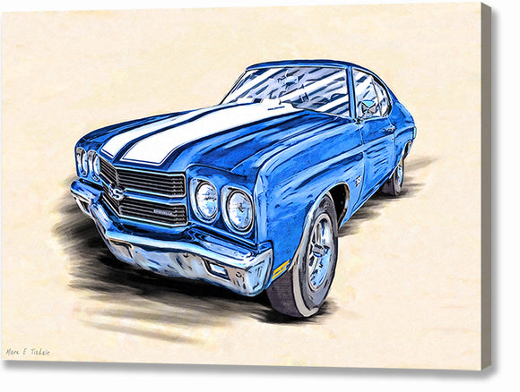 1970 Chevelle SS - Classic Car Canvas Print