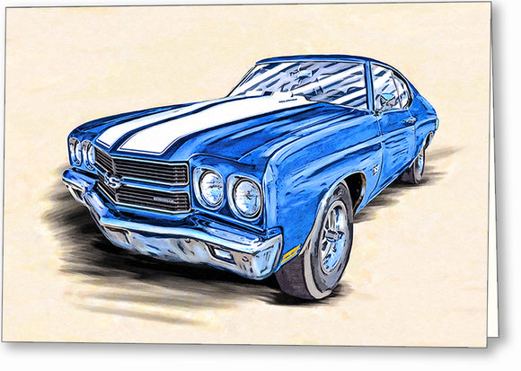 1970 Chevelle SS - Classic Car Greeting Card