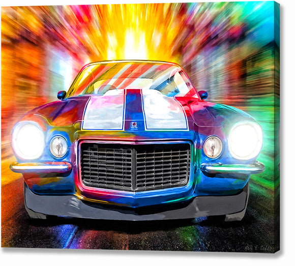 1972 Camaro - Classic Car Canvas Print