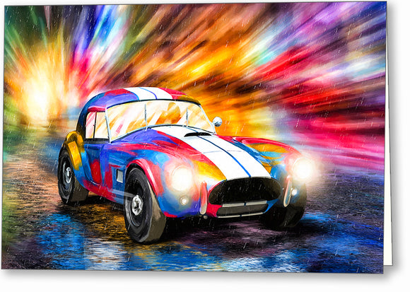 AC Cobra - Classic Car Greeting Card