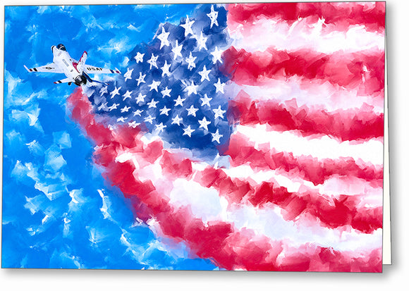 Air Force Painting - Patriotic Greeting Card