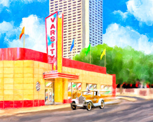An Atlanta Original - The Varsity - Art Print