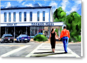 Spirit Of Auburn - Toomer's Corner - Greeting Card