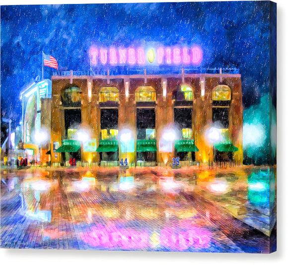 Atlanta Turner Field Canvas Print