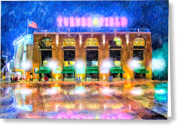 Atlanta Turner Field Greeting Card
