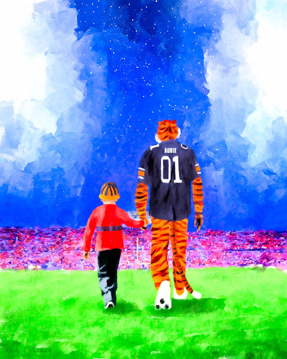 Dreaming Under The Lights In Auburn - Art Print