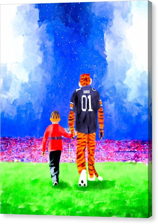 Dreaming Under The Lights In Auburn - Canvas Print