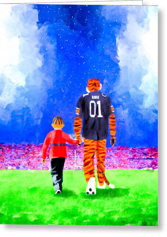 Dreaming Under The Lights In Auburn - Greeting Card