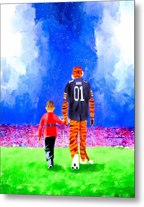 Dreaming Under The Lights In Auburn - Metal Print