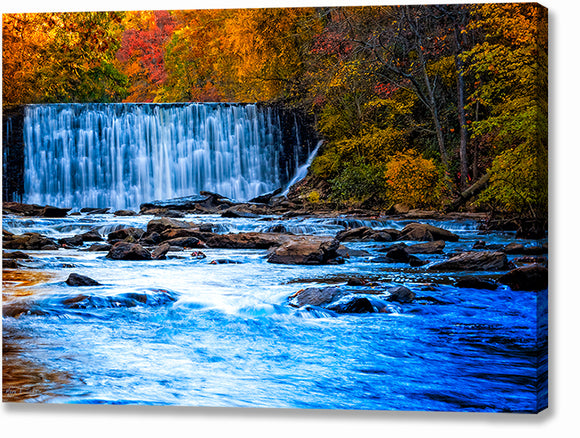 Autumn At Roswell Mill - Georgia Canvas Print