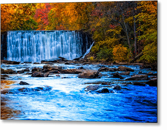 Autumn At Roswell Mill - Georgia Metal Print