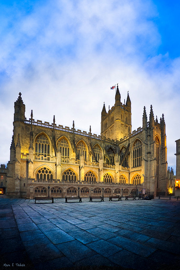 Bath Abbey At Dusk - England Architecture Art Print