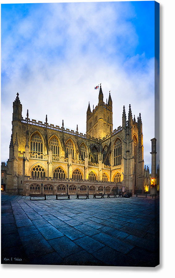 Bath Abbey At Dusk - England Architecture Canvas Print