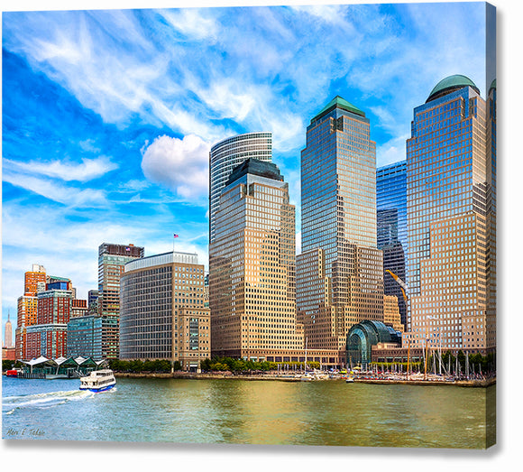 Battery Park City Skyline - New York City Canvas Print