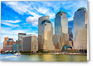Battery Park City Skyline - New York City Greeting Card