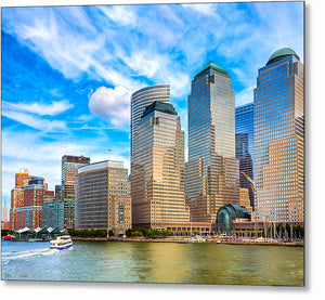 Battery Park City Skyline - New York City Metal Print