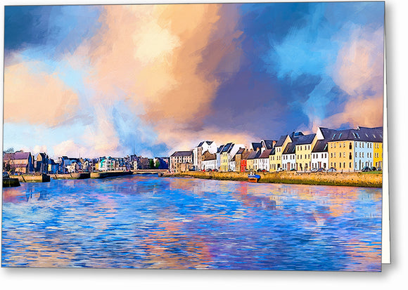 Beautiful Irish Seaside - Galway Greeting Card
