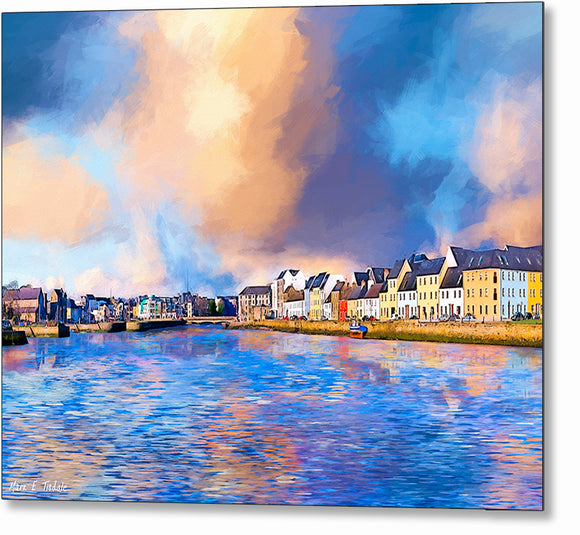 Beautiful Irish Seaside - Galway Metal Print