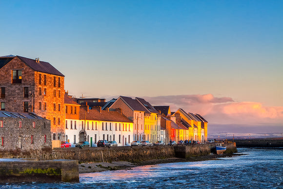 Beautiful Seaside View - Galway Sunset Art Print