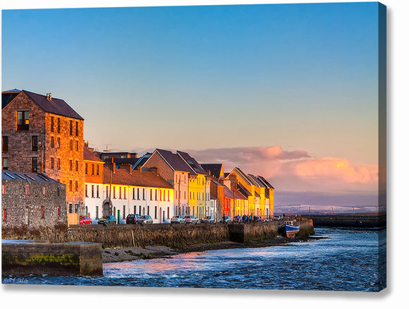 Beautiful Seaside View - Galway Sunset Canvas Print