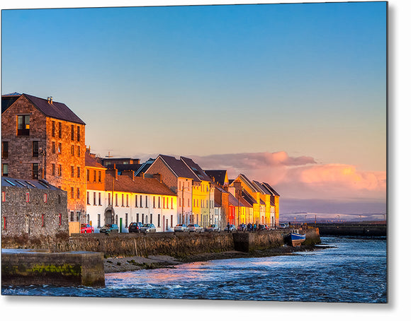 Beautiful Seaside View - Galway Sunset Metal Print