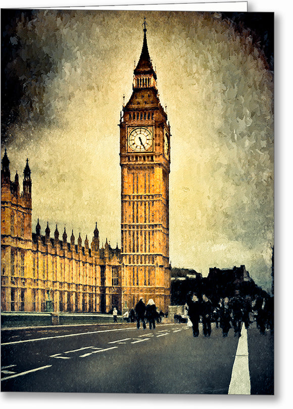 Big Ben Clock - Unique London Greeting Card
