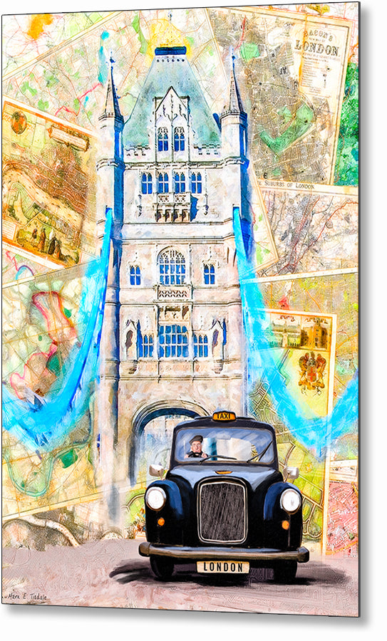 Black Cab - London Metal Print