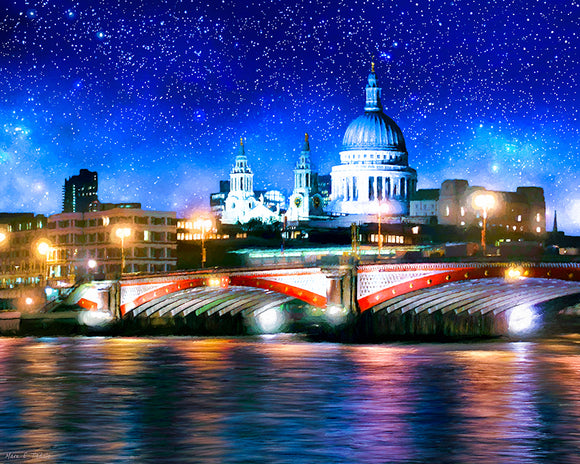Blackfriars Bridge And St. Paul's Cathedral - London Thames Art Print
