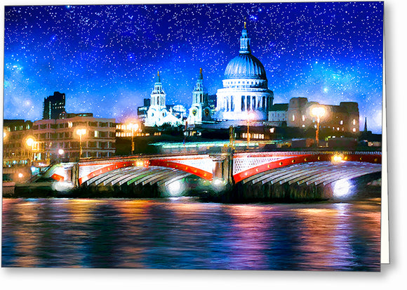 Blackfriars Bridge And St. Paul's Cathedral - London Thames Greeting Card