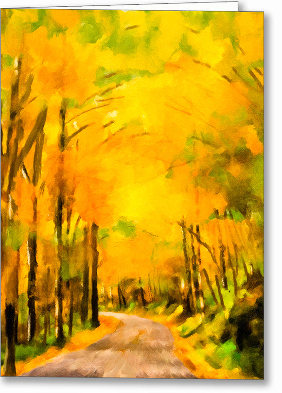 Blue Ridge Mountains - Fall Color Greeting Card