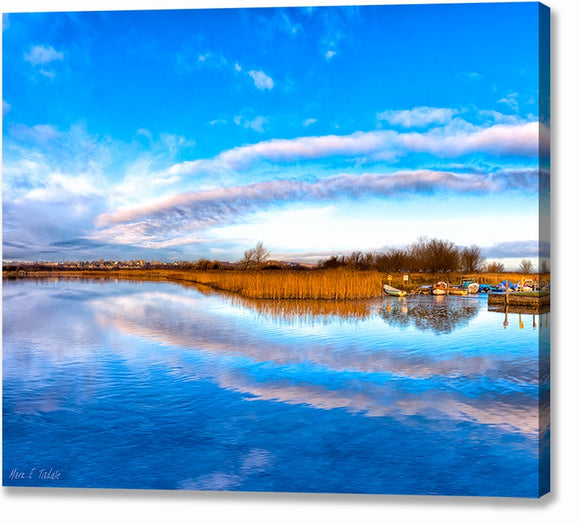 Blue Skies Over The River Corrib - Galway Ireland Canvas Print
