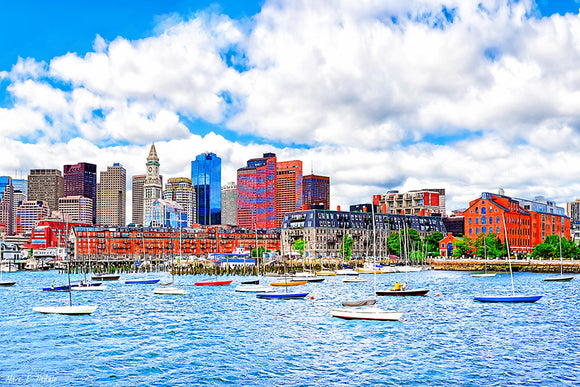 Boston On The Water - Harbor Art Print