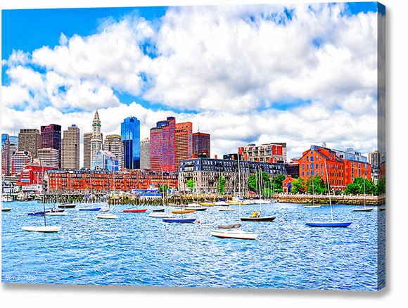Boston On The Water - Harbor Canvas Print