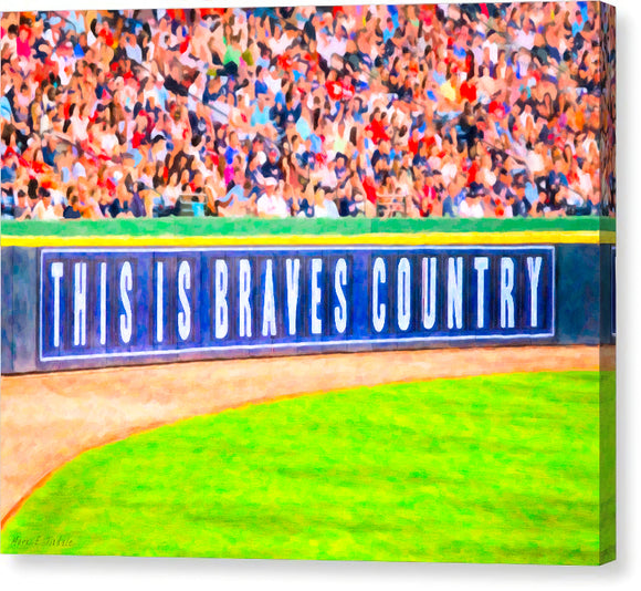 Brave's Country - Atlanta Canvas Print