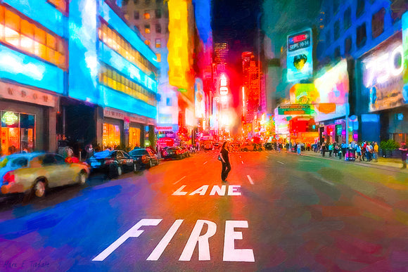 Bright Lights of Times Square - New York City Art Print