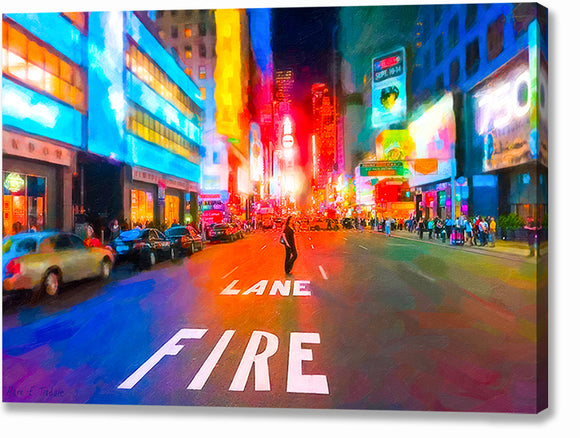 Bright Lights of Times Square - New York City Canvas Print