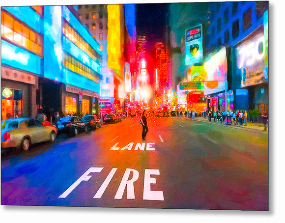 Bright Lights of Times Square - New York City Metal Print