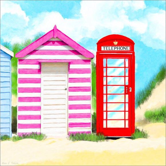 Britain In Summer - Red Telephone Box Art Print