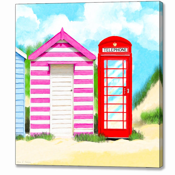 Britain In Summer - Red Telephone Box Canvas Print