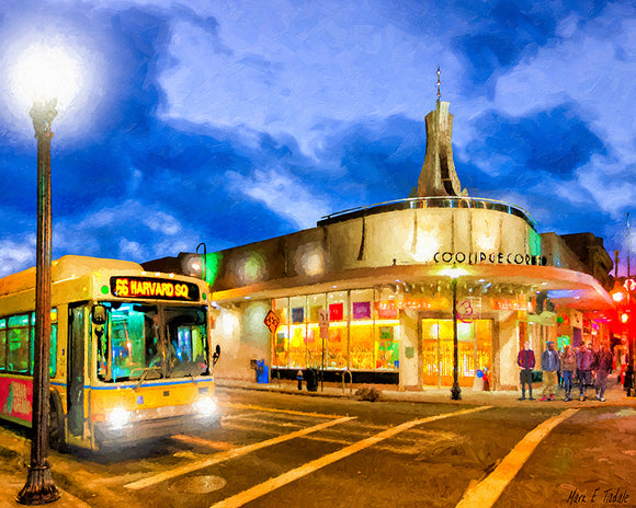 Brookline's Coolidge Corner - Boston Art Print