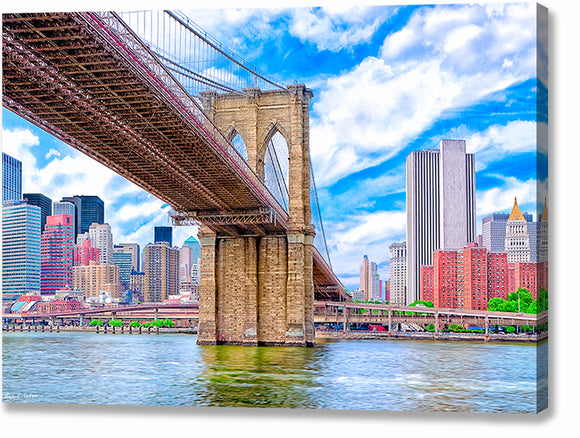 Brooklyn Bridge And The Skyline - New York City Canvas Print