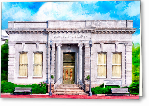 Carnegie Library - Montezuma Georgia Greeting Card