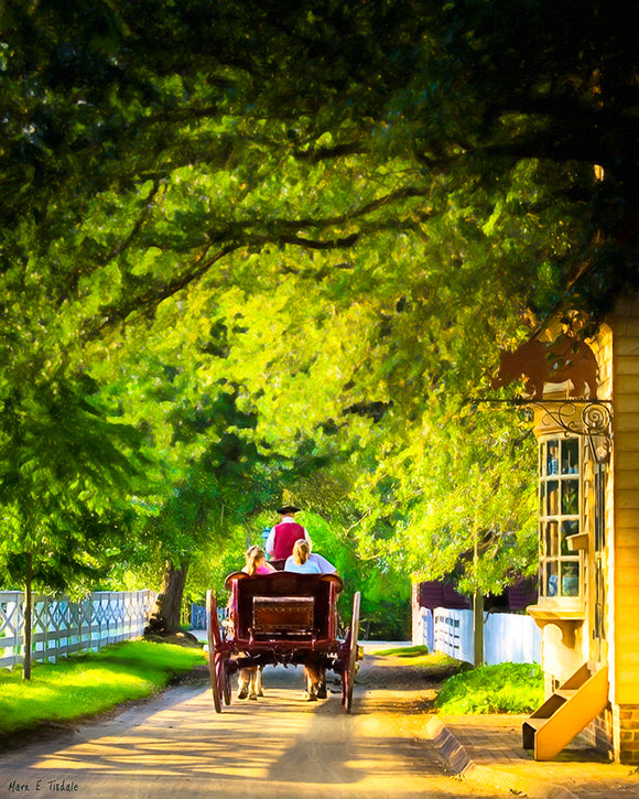Carriage Ride - Colonial Williamsburg Art Print