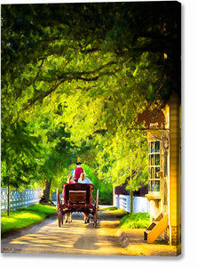 Carriage Ride - Colonial Williamsburg Canvas Print