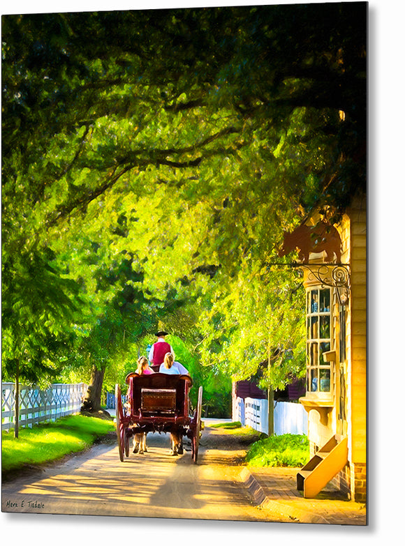 Carriage Ride - Colonial Williamsburg Metal Print