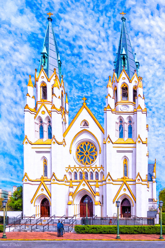 Cathedral of St. John the Baptist - Savannah Art Print
