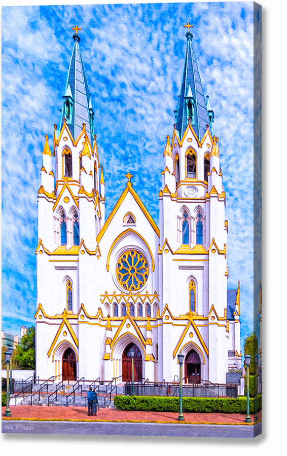 Cathedral of St. John the Baptist - Savannah Canvas Print